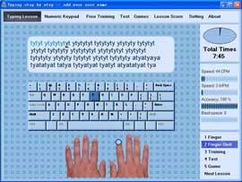Learn typing quick and easy individual software